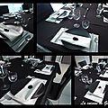 Deco de table black & white zen