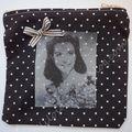 Pochette en tissu, hommage à scarlett o'hara!