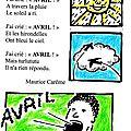 Comptine d'avril en couleur de maurice carême