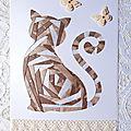 Iris-folding et scrapbooking ... cartes d'anniversaire