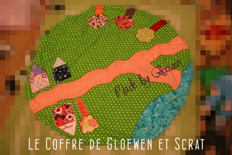 couture un tapis de jeu pour enfant le coffre de scrat et gloewen couture lecture diy. Black Bedroom Furniture Sets. Home Design Ideas