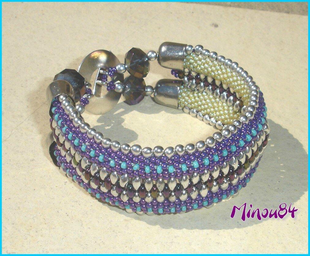 bracelet mailles serrées doubles