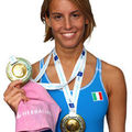 Tania cagnotto, collectionne les podiums...