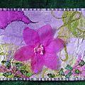 Mail art textile 20 x 15 cm