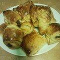 Les viennoiseries...croissants, pains au chocolat ..