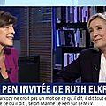Video. marine le pen interviewée par ruth elkrief (26/09/2016)