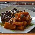 Jarret de veau et carottes à la sauge