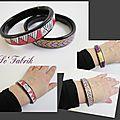 Bracelets motif Maori portés