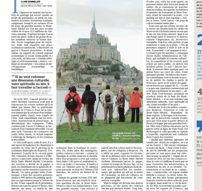 Mont Saint Michel: RAS-LE-BOL de ces plumitifs parisiens qui ne font pas leur travail…