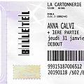 Anna <b>Calvi</b> - Jeudi 31 Janvier 2019 - la Cartonnerie (Reims)