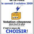 Votation citoyenne pour la poste