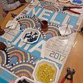 Ecole Maternelle Léon Grimault - Panneau de l'école inspiré du mosaïste rennais Odorico