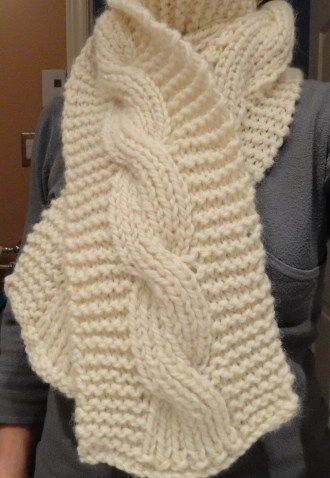 Reversible BIG cable scarf