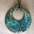 Grand rond arabesques turquoise