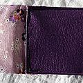40. pochette I-phone simili violet et retour coton - intérieur