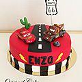 Gâteau <b>Flash</b> Mc <b>Queen</b> Cars