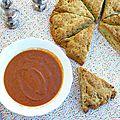 Soupe de tomates rôties et scone géant au pesto, mon italie pour la #bataillefood5#