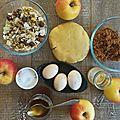 Apple pie aux amandes-pignons-noisettes et pistaches