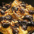 Poulet aux pruneaux et aux épices de fatema hal