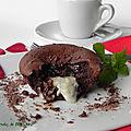 Moelleux au chocolat coeur fondant au lait de coco, sans gluten