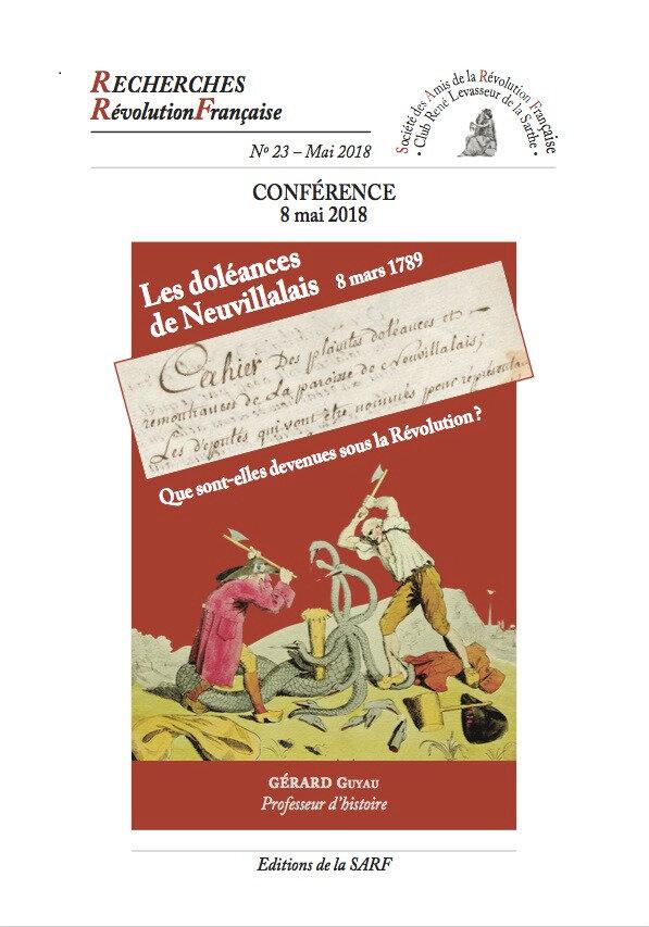 8 mai 2018 : conférence de la SARF à Neuvillalais ( 72 ).