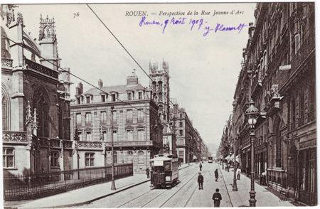 76 - ROUEN - Perspective del a rue Jeanne d'Arc