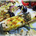 Filet de daurade mariné aux senteurs de provence et sa farandole de légumes