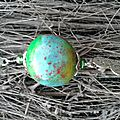Sautoir boule pastels