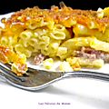 Mac and cheese aux lardons