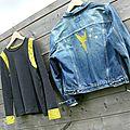 melting pot et veste en jean customisée