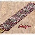 Bracelet O'Mosaïc red_grey