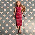 Vestiaire de Barbie : la robe de ville Aubépine