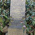 La stèle de la Résistance, place de la Liberté et les 24 Résistants tués lors des combats pour la libération de besançon