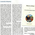 Le DRIAN Marie / Ça ne peut plus durer (Version magazine)