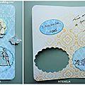 Carte felicitation mariage (papier scrapplaisir)