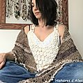 Inspiration south bay shawlette marron....