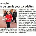 Plérin, session tennis sport adapté