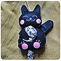 Défi sc and more n° 350 : un chat noir! ici ce sera un manekineko, petit chat porte bonheur japonais .....