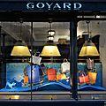 Réalisation des vitrines de la maison goyard paris / scénographie david puel / atelier2a model maker à paris.
