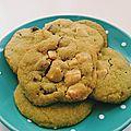 Cookies au thé vert & 3 chocolats