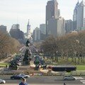 Franklin Parkway vue du Museum of Art