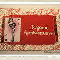 Carte anniversaire pin up