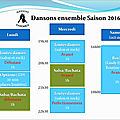 Toutes danses : danses de salon, rock et options - Saison 2016/2017