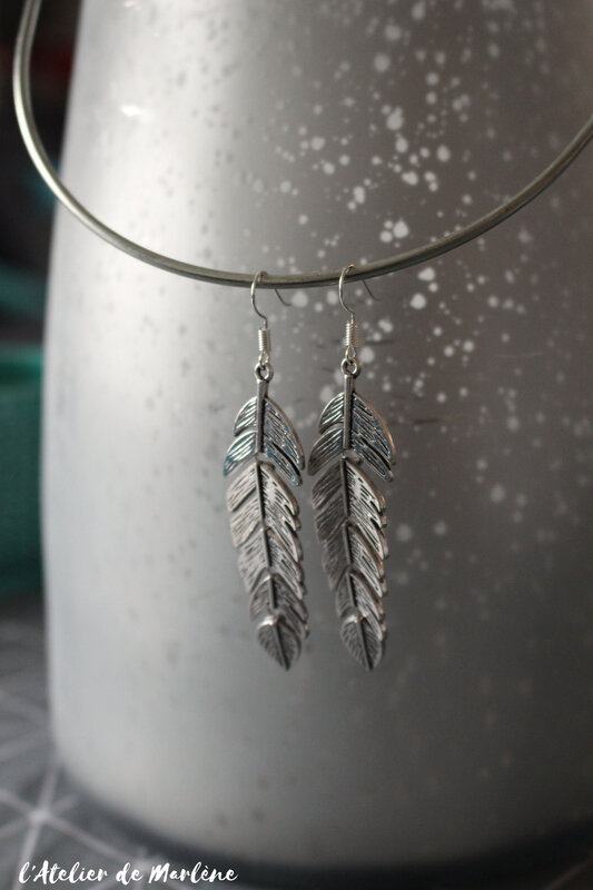 Bo plumes argent