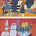 Đặng Xuân Hòa (B. 1959), (I) <b>Man</b>'<b>s</b> <b>things</b> <b>with</b> <b>cigarette</b> (II) <b>Man</b>'<b>s</b> <b>things</b> <b>with</b> fruits