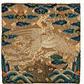 A very rare <b>civil</b> <b>official</b>'<b>s</b> <b>rank</b> <b>badge</b> of a silver pheasant,buzi, Kangxi period (1662-1722)