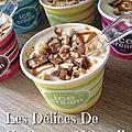 Crème glacée caramel snickers cacahuèttes maison sans sorbetière