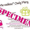 carte cadeau owly mary du pole nord 2014
