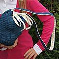 Un sac crochet/tissu