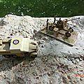 Bofors gun and tractor / canon de bofors et tracteur / airfix 1/76 eme .